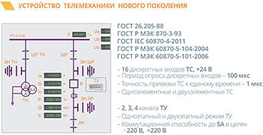 Устройство телемеханики нового поколения.
